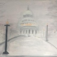 Capitol in Wintry Mist